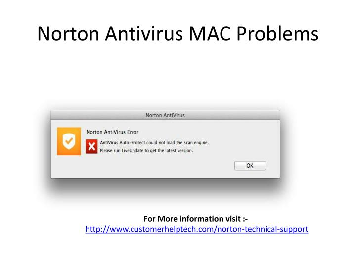 Norton Antivirus MAC Problems