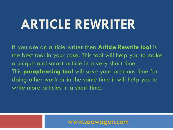 If you are an article writer then