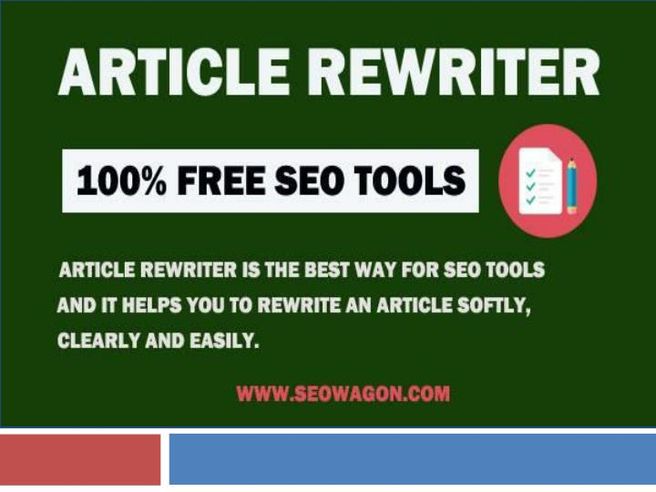 Free article rewriter tool