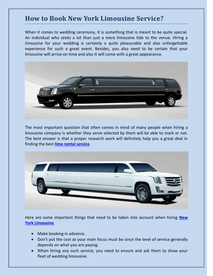 How to Book New York Limousine Service?