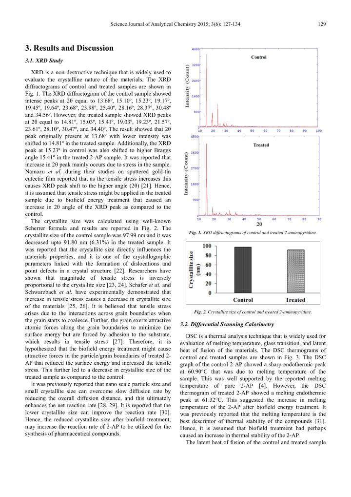 Science Journal of Analytical Chemistry 2015; 3(6): 127-134
