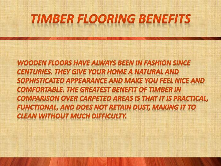 Timber flooring Benefits