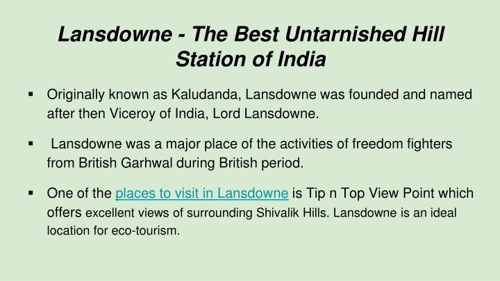 Lansdowne - The Best Untarnished Hill Station of India