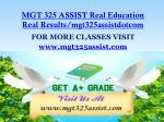 mgt 325 assist real education real results mgt325assistdotcom1