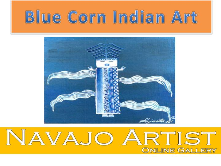 Blue corn indian art