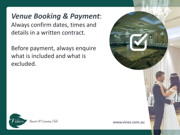 Venue Booking & Payment