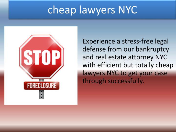 Cheap lawyers nyc