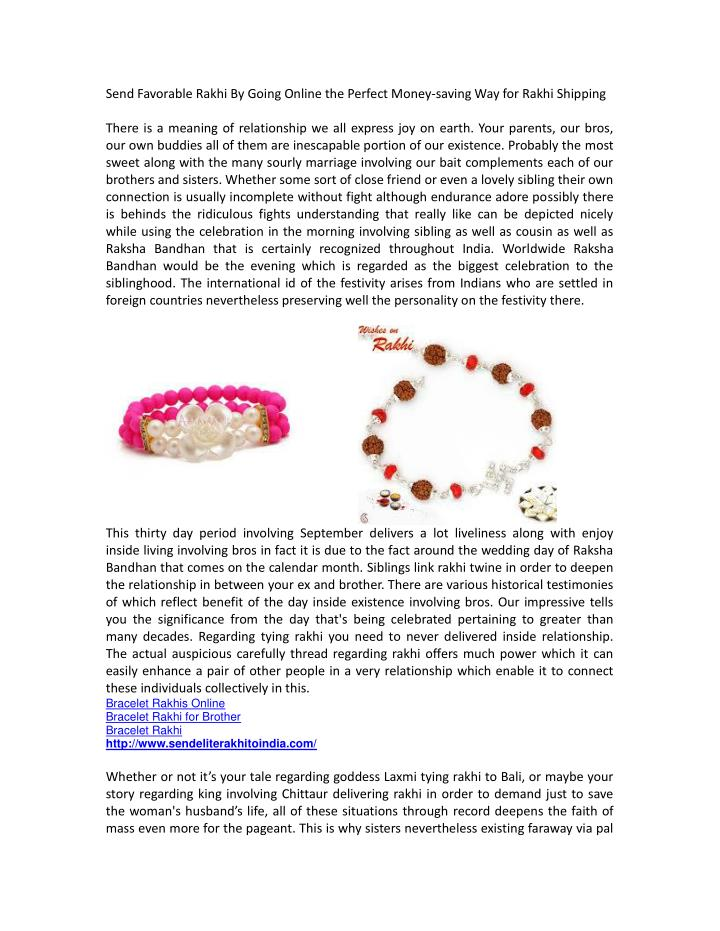 Send Favorable Rakhi By Going Online the Perfect Money-saving Way for Rakhi Shipping