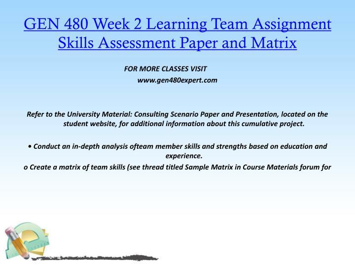 gen 480 consultant scenario paper and presentation Answer online homework gen 480 week 2 consulting scenario paper and presentation.