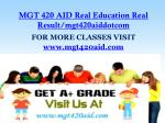 mgt 420 aid real education real result mgt420aiddotcom