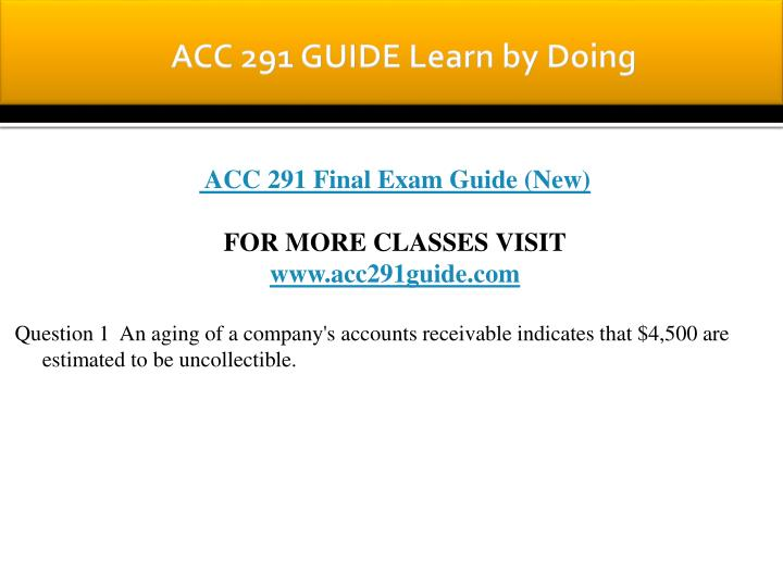Acc 291 guide learn by doing1