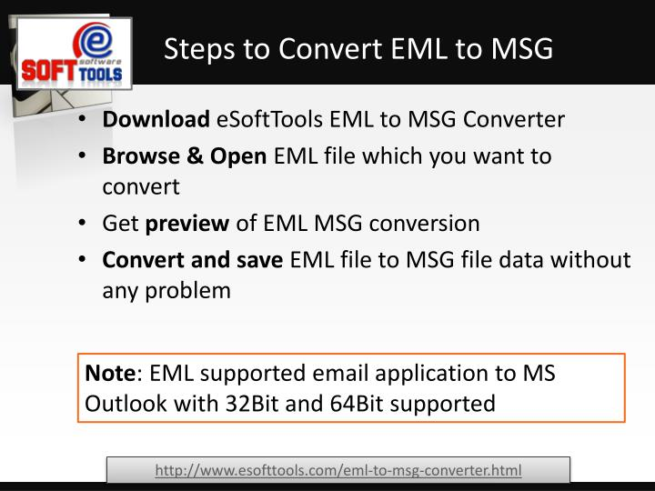 Steps to Convert EML to MSG