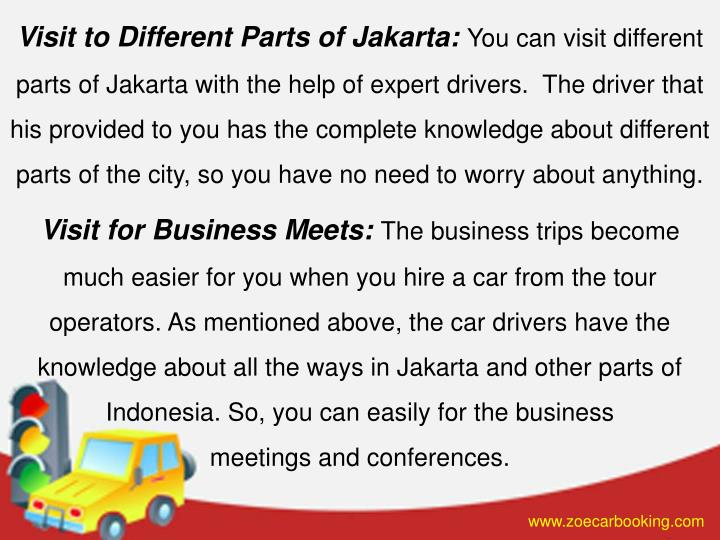 Visit to Different Parts of Jakarta: