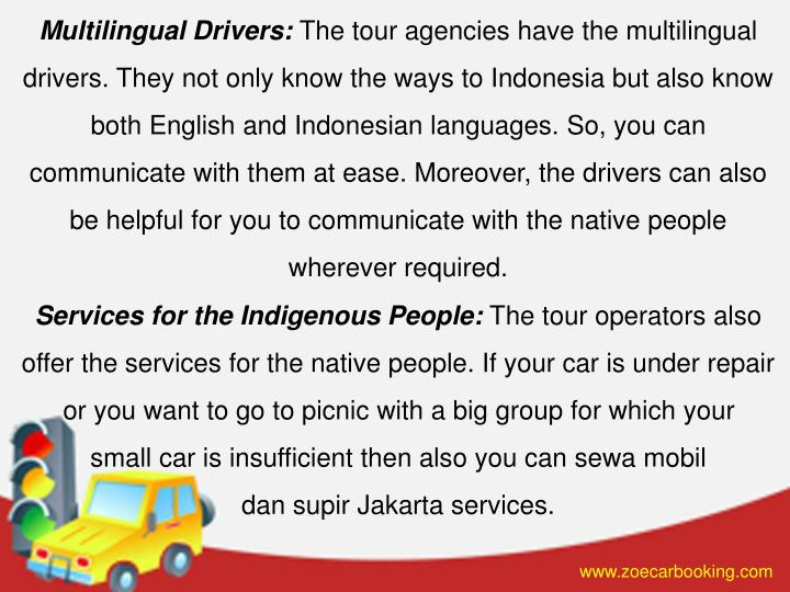Multilingual Drivers: