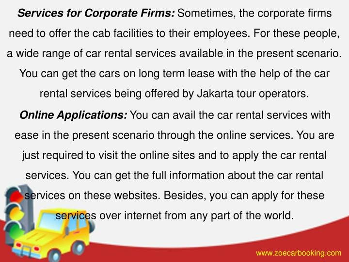 Services for Corporate Firms: