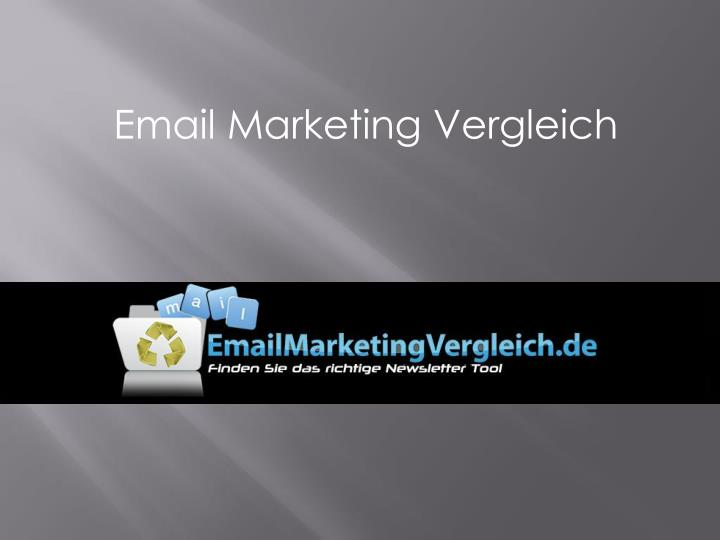 Email Marketing Vergleich