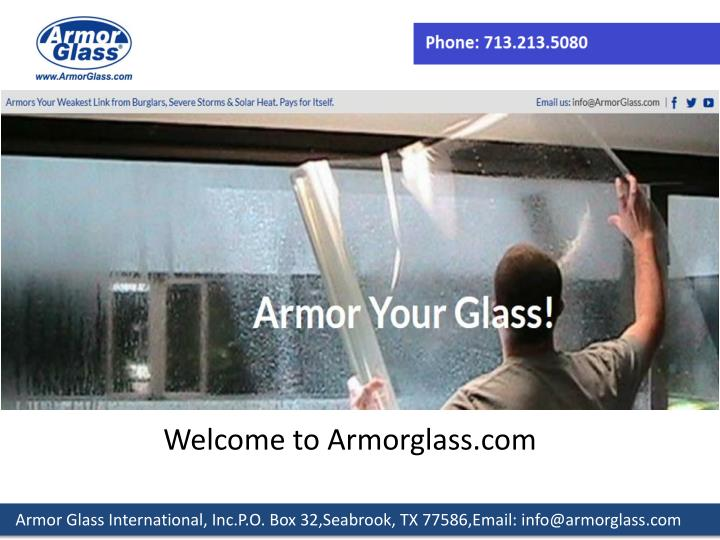 Welcome to Armorglass.com