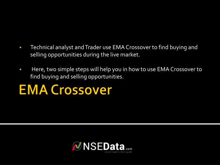 Technical analyst and Trader use EMA Crossover to find buying and selling opportunities during the live market.