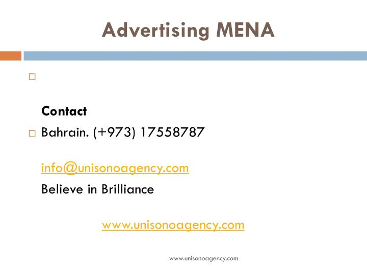 Advertising MENA