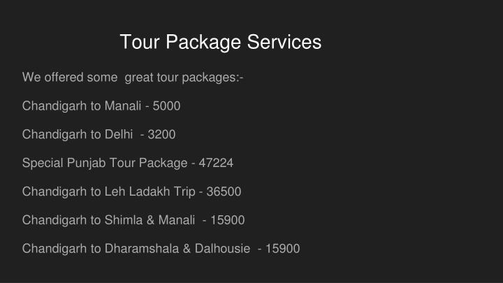 Tour Package Services