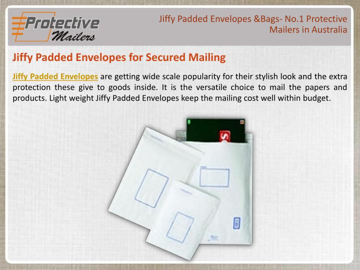 Jiffy Padded Envelopes &Bags- No.1 Protective