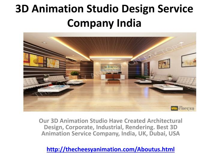 3d animation studio design service company india