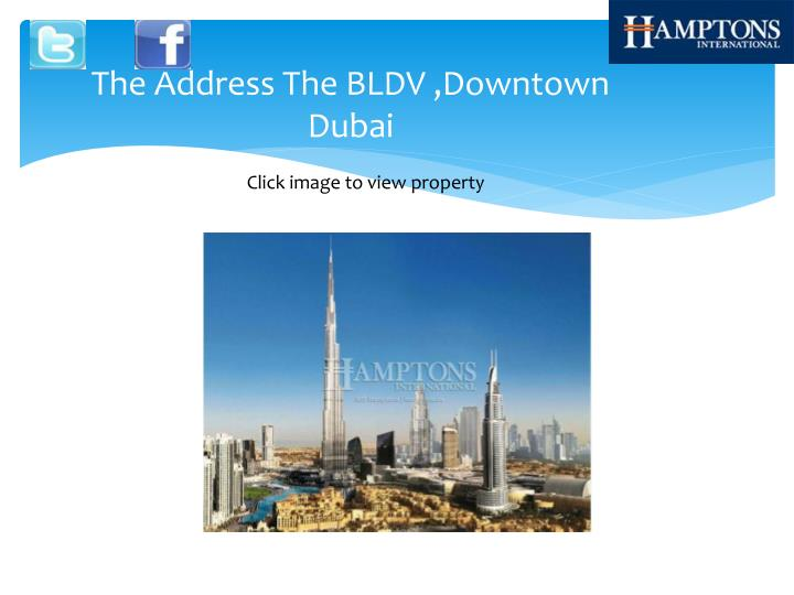 The address the bldv downtown dubai