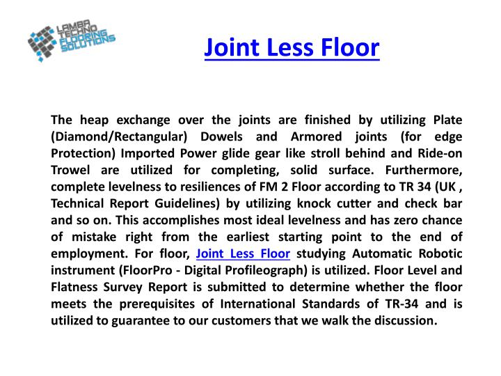 Joint Less Floor