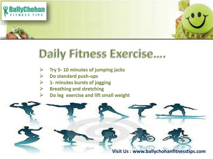 Daily Fitness Exercise….