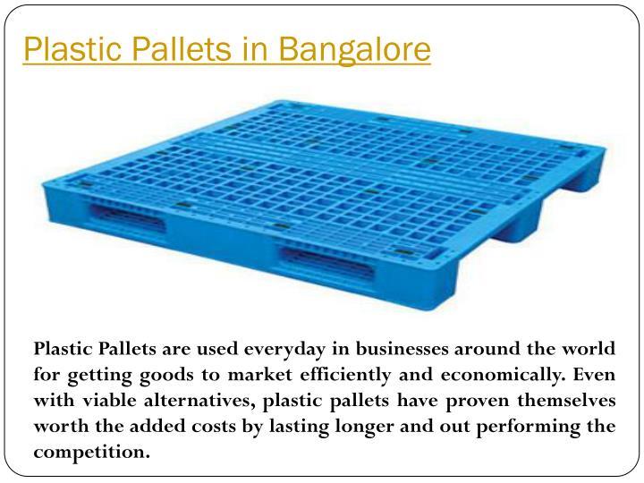 Plastic Pallets in Bangalore