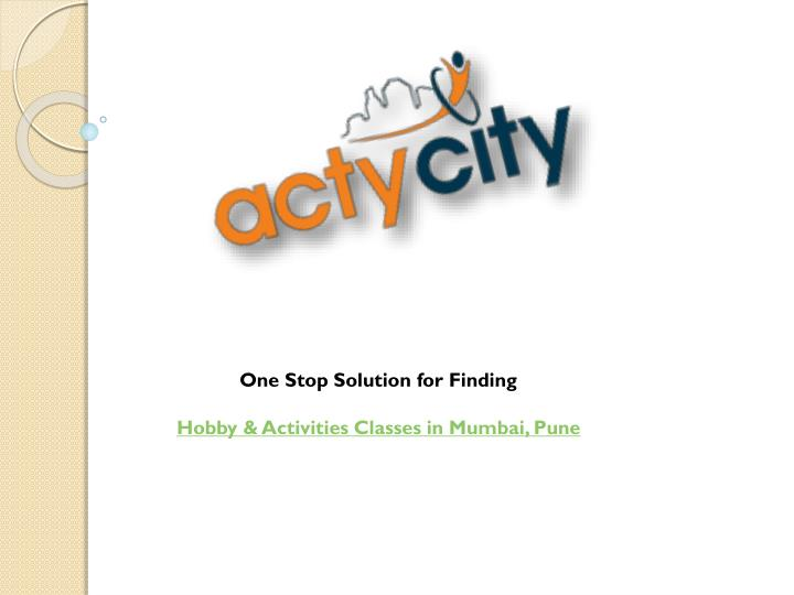 One Stop Solution for Finding