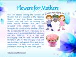 flowers for mothers