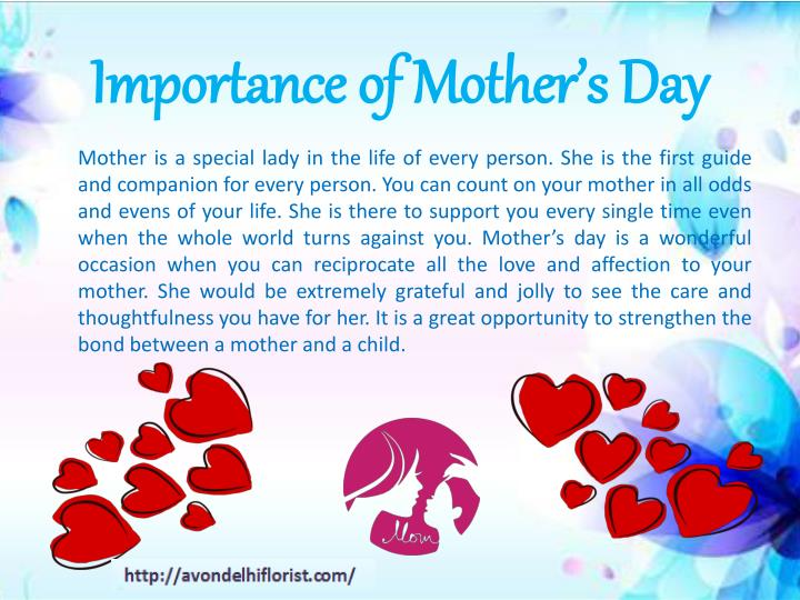 Importance of mother s day
