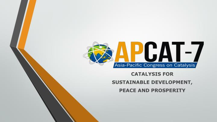 Catalysis for sustainable development peace and prosperity