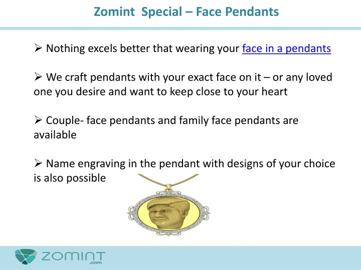 Zomint  Special – Face Pendants