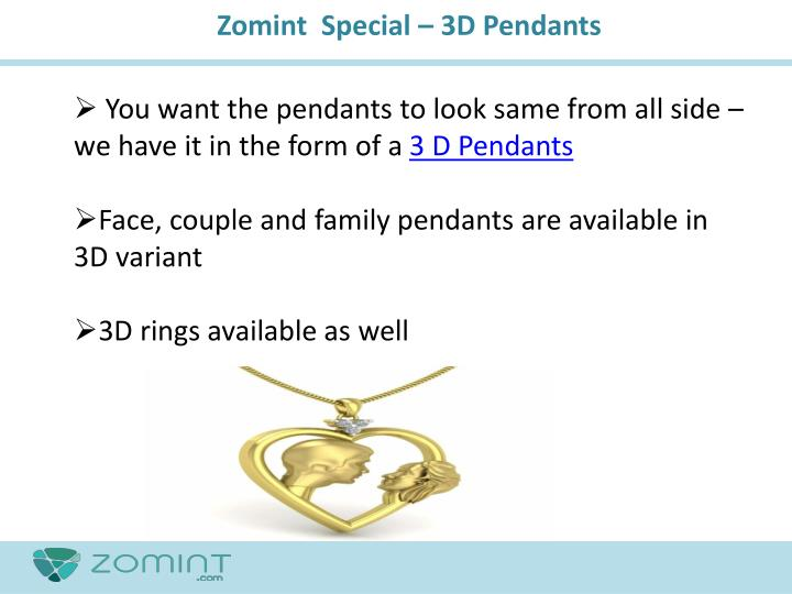 Zomint  Special – 3D Pendants