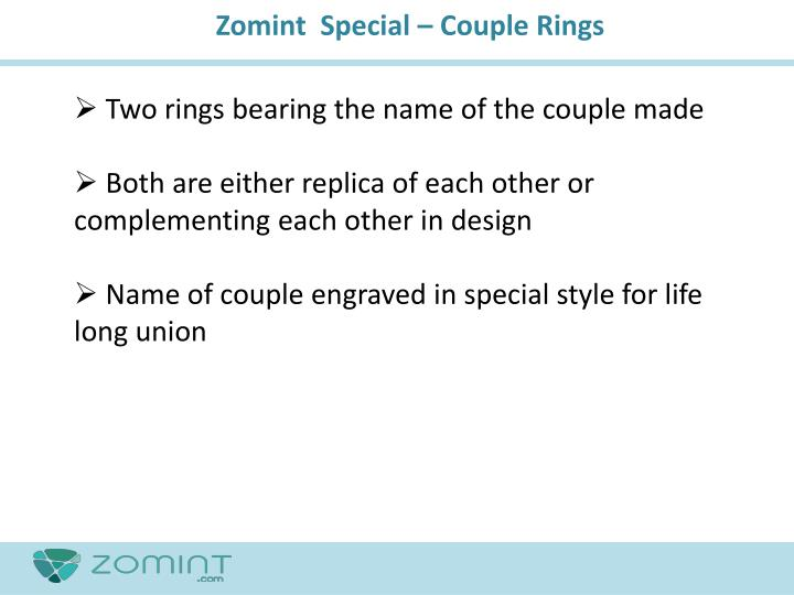 Zomint  Special – Couple Rings
