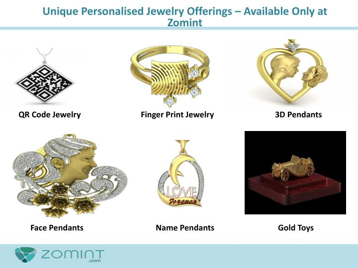 Unique Personalised Jewelry Offerings