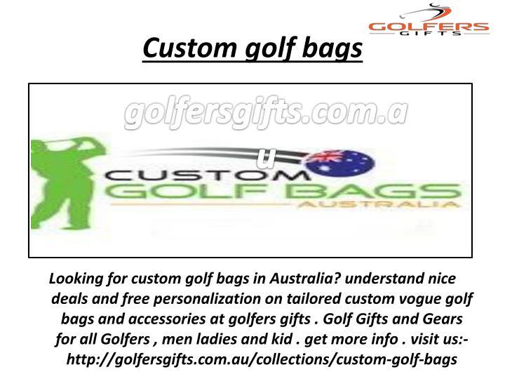Custom golf bags