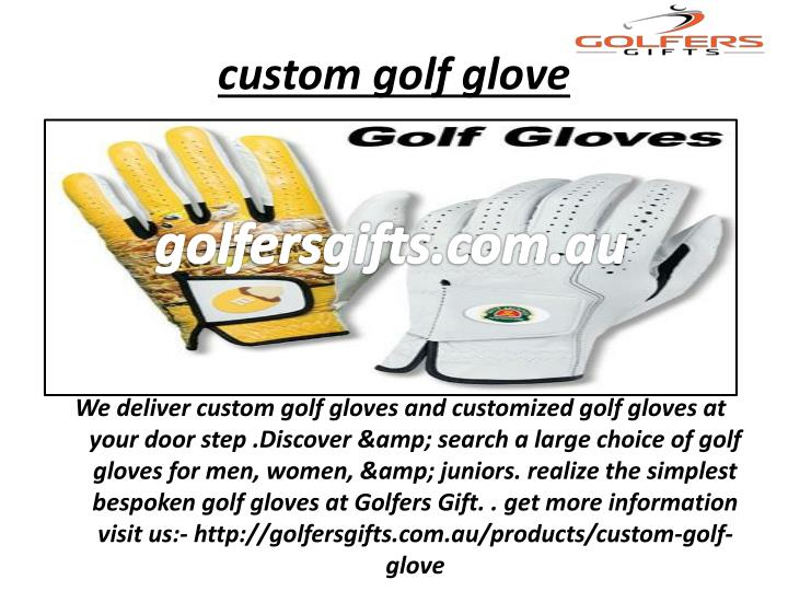 custom golf glove
