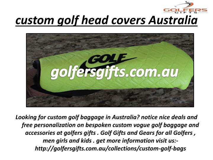 custom golf head covers Australia
