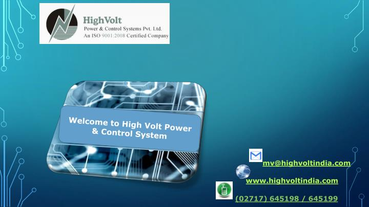 Welcome to High Volt Power & Control Syste