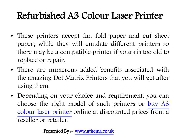 Refurbished a3 colour laser printer