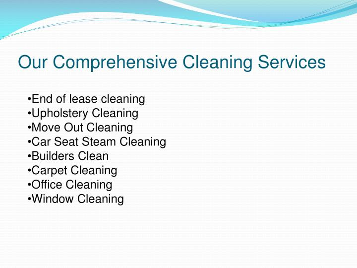 Our Comprehensive Cleaning Services