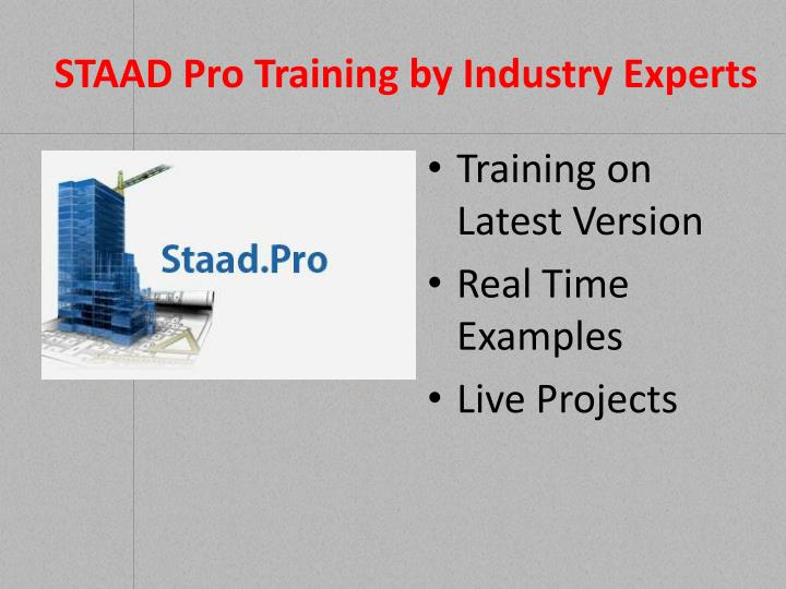 Staad pro training by industry experts