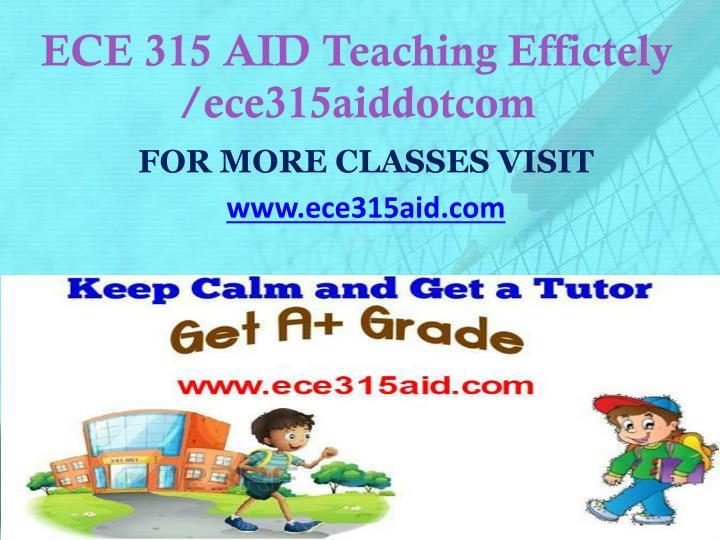 ECE 315 AID Teaching