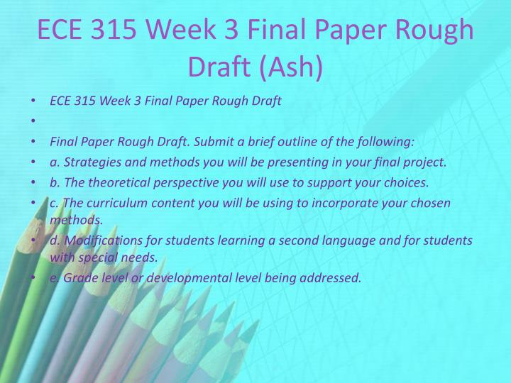 ECE 315 Week 3 Final Paper Rough Draft (Ash)