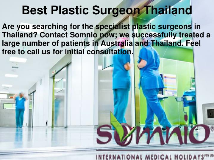 Best plastic surgeon thailand