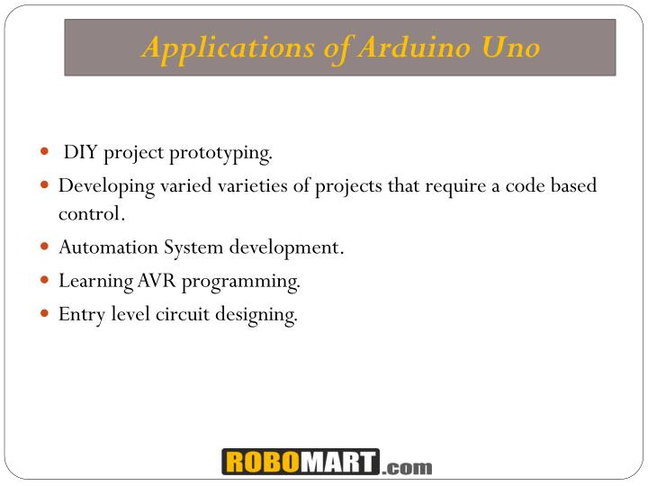 Ppt arduino uno r projects robomart powerpoint