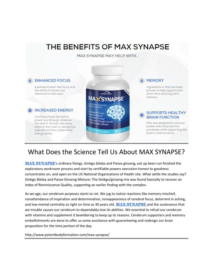 What Does the Science Tell Us About MAX SYNAPSE?
